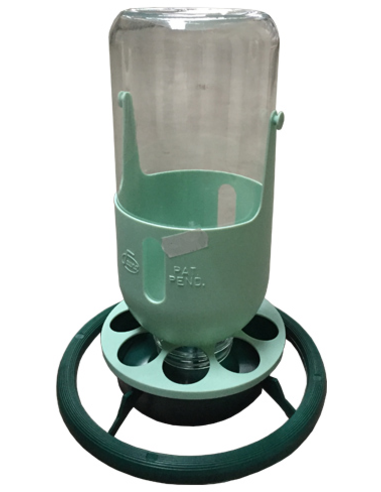 FLESSENHOUDER POT GLAS GROEN/MINT