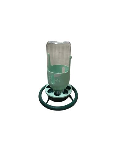 FLESSENHOUDER POT PLASTIC GROEN/MINT